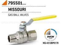 """Кран газовый шаровой Bonomi MISSUORI GAS 1"""" ВН стальная ручка (79550108)"""