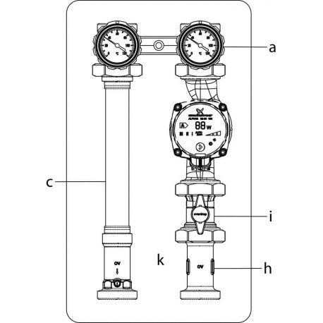 Oventrop Regumat S-180 Ду 32 без насоса+кран (1355075)