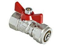 """Кран шаровый Valtec VT.2302 под обжим 16 х1/2"""" вн. (для металлопластиковых систем) (VT.342.N.1604)"""