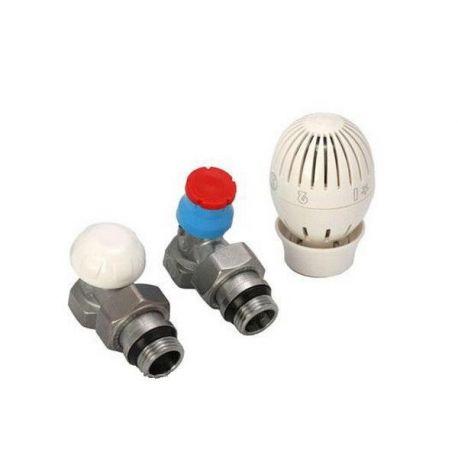 Комплект радиаторный термоклапанов угловой Giacomini R470F (R470FX003)