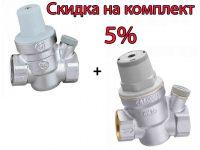"""Редуктор давления воды CALEFFI с отверстием для манометра d3/4"""" (533451H)"""