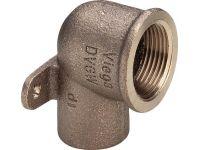 """Viega GmbH Коліно настінне d22 x 3/4"""" В (бронза) 94472g (113490)"""